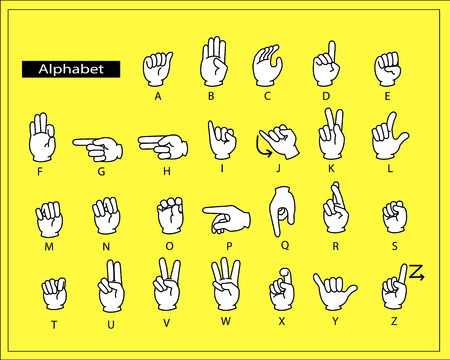 six point: The white hands are doing alphabet sign language.