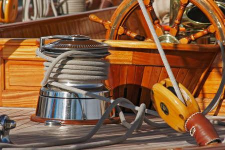 sailing boat: Upperworks of sailing boat
