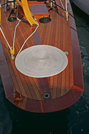 Large plan on part of an old sailing boat
