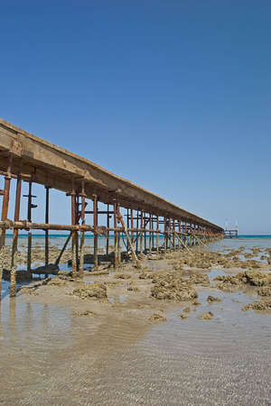 Pontoon on a beach of Red Sea