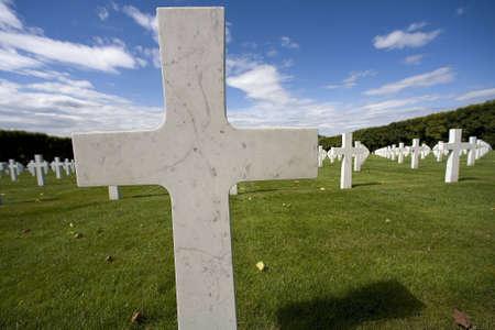 martyr: cross in an American cemetery