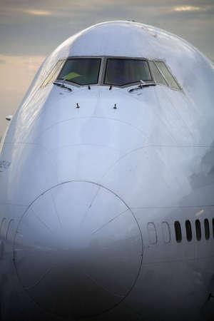 Cockpit of a plane passengers carrier