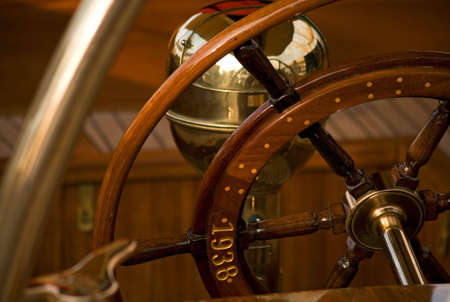 close up of an old sailing boat photo
