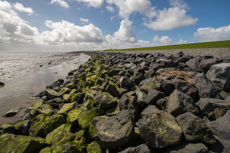 dike: dike in the north of the netherlands Stock Photo