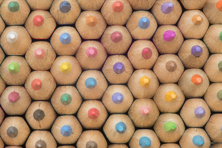 coloured pencil: collection of colored wooden pencils Stock Photo