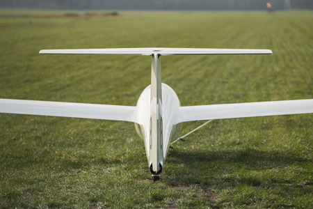 noiseless: Pull up a glider on an airstrip nearby the German border in the Netherlands