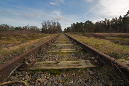 municipality: Old railway line \Borkense Course\ near the German border in the municipality of Winterswijk Stock Photo