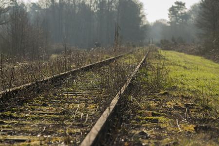 Old railway line Borkense Course near the German border in the municipality of Winterswijk