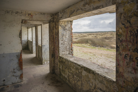 ruination: Old German bunker on the island Terschelling in the Netherlands