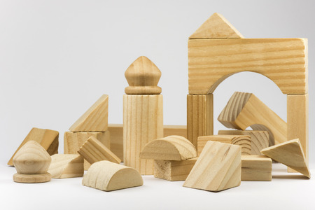 ravage: Wooden building blocks Stock Photo