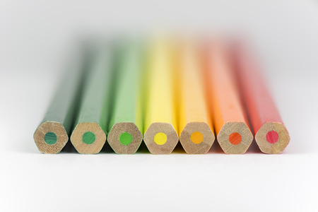 ner: Conceptual crayons Represented as successor energy label colors Stock Photo