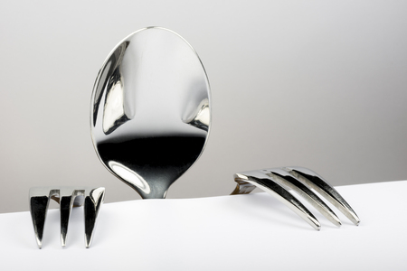 figure: Figure of spoon and two forks