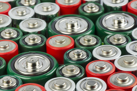 rechargeable: Collection of old polluting non rechargeable batteries