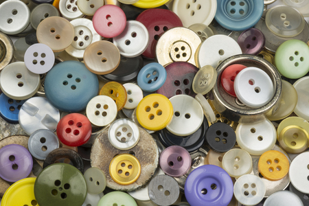 variously: Cheerful collection colorful round buttons
