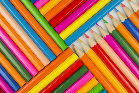 gaudy: Collection of colorfull pencils as a background picture