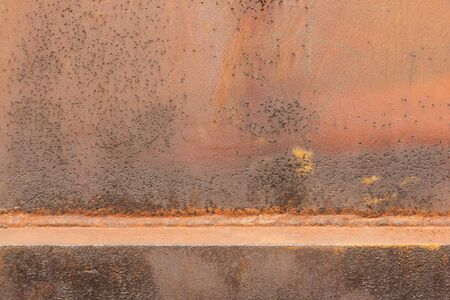 perish: Rusty colorful metal sheet as background picture Stock Photo