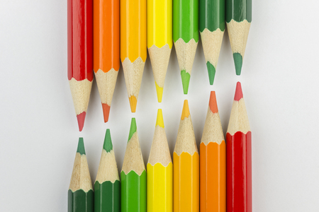 successor: Conceptual crayons represented as successor double energy label colors