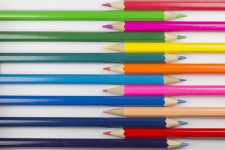 Collection of colorful pencils as a background picture Stock Photo