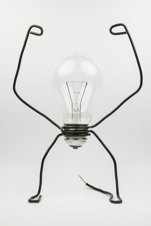 Emotional Fantasiefigur Eines Transparenten Glühbirne Und Schwarze ...