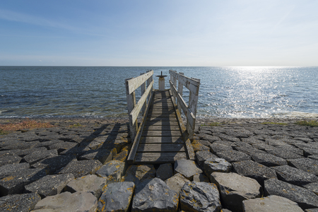 Control dock on a water luis on the Wadden island Vlieland in the Netherlands Stock Photo