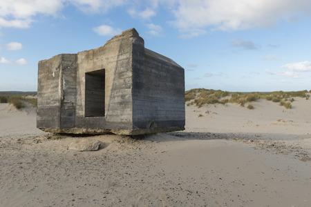 Old German bunker in the Netherlands