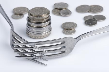 Conceptual imagination of financial greed 写真素材
