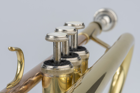 Detail picture of the musical instrument trumpet
