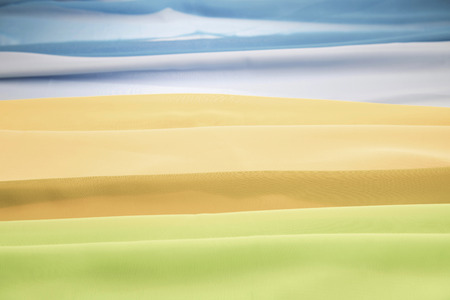Abstract view of a landscape through cloths