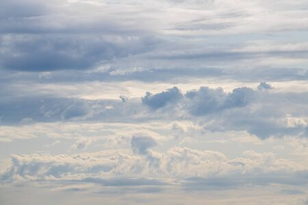 Cloudy skies in beautiful blue pastels in the summer in the Netherlands Reklamní fotografie