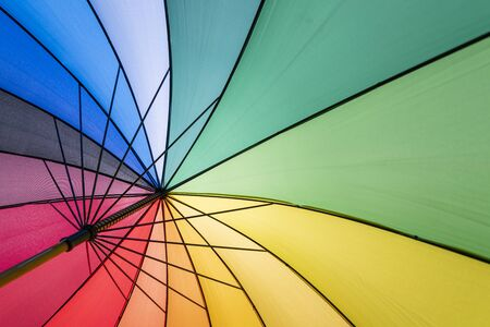Colorful parasol in summer with backlight Reklamní fotografie