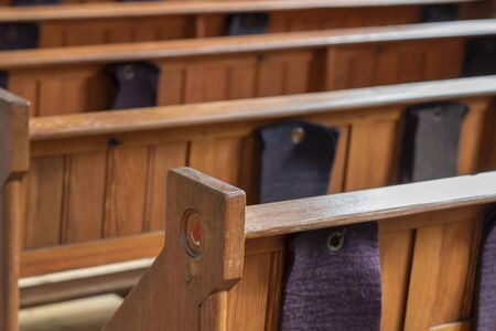 Pews in an old church in the Netherlands 写真素材