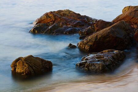 storming: The rough and rocky coastline
