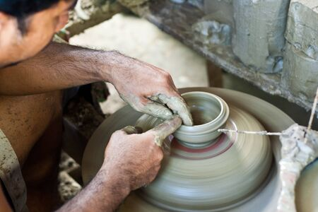 potters wheel: Potter on the potters wheel Editorial