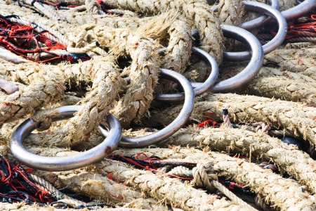 A fisherman s ropes and nets