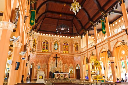 Inside of Over 100 years old church in Chanthaburi province Thailand  Stock Photo - 14514328