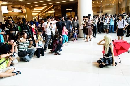 Bangkok - August 26   An unidentified Japanese anime cosplay pose in Japan Festa in Bangkok 2012 on August 26, 2012 at Siam Paragon, Bangkok, Thailand