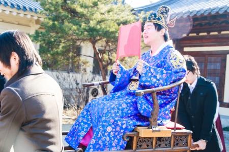 Daegu - January 17   A performance of the Traditional Wedding of Thananya   Park Jin Hyun at Korean Folk Village on January 17, 2010 in Daegu, South Korea  Editorial
