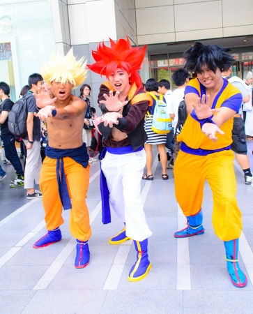 Bangkok - March 30   Cosplayer from Dragonball Z in Thai-Japan Anime Music Festival 3 on March 30, 2013 at Central World, Bangkok, Thailand