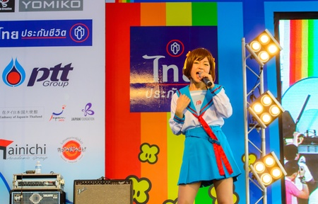 Bangkok - March 30   Mini Concert by Kazumi Sekine in Thai-Japan Anime Music Festival 3 on March 30, 2013 at Central World, Bangkok, Thailand