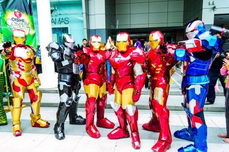 Bangkok - May 25   Cosplayer as characters Iron Man from Marvel Comics in Oishi World Cosplay Fantastic 7 on May 25, 2013 at Central World, Bangkok, Thailand