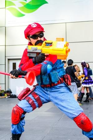 Bangkok - May 25   Cosplayer as characters Mario Nintendo