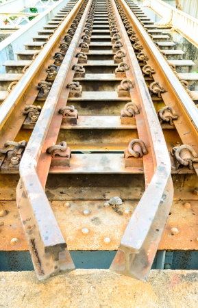 Old railway bridge close up  photo