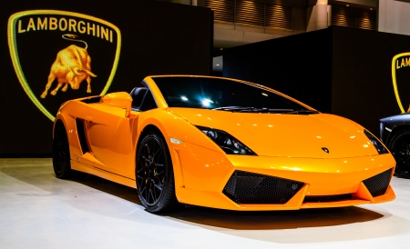 Bangkok June 20 Lamborghini On Display At Bangkok International
