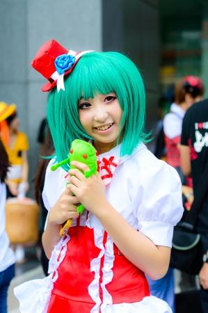 BANGKOK - AUGUST 31   An unidentified Japanese anime cosplay pose in Japan Festa in Bangkok 2013 on August 31, 2013 at Central World, Bangkok, Thailand