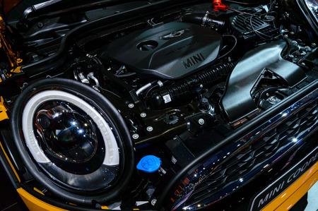 BANGKOK - MARCH 27   Engine Mini Cooper S at The 35th Bangkok International Motor Show - 'Beauty in the Drive