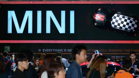 BANGKOK - MARCH 27   Mini Cooper exhibit at The 35th Bangkok International Motor Show - 'Beauty in the Drive