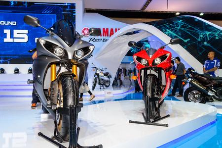 BANGKOK - MARCH 27   YAMAHA YZF R1 on display at The 35th Bangkok International Motor Show - 'Beauty in the Drive