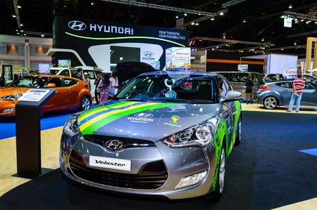 BANGKOK - MARCH 27   Hyundai Veloster Brazil Edition Skin on display at The 35th Bangkok International Motor Show -  Beauty in the Drive  on March 27, 2014 in Bangkok, Thailand