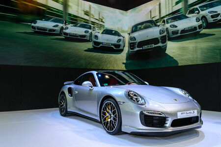 BANGKOK - MARCH 27   Porsche 911 Turbo S on display at The 35th Bangkok International Motor Show - 'Beauty in the Drive