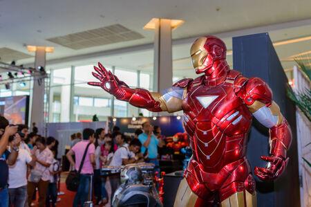 BANGKOK - MAY 10   Iron Man model in Thailand Comic Con 2014 on May 10, 2014 at Royal Paragon Hall, Bangkok, Thailand